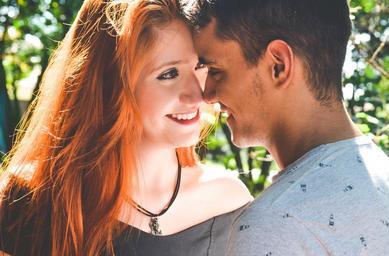 Mladý zamilovaný pár