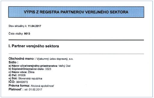 Partneri verejného sektora a ich register